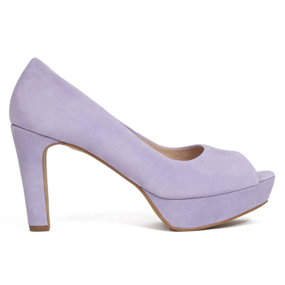 Pumps Urban High Heel Peeptoe Lavendel