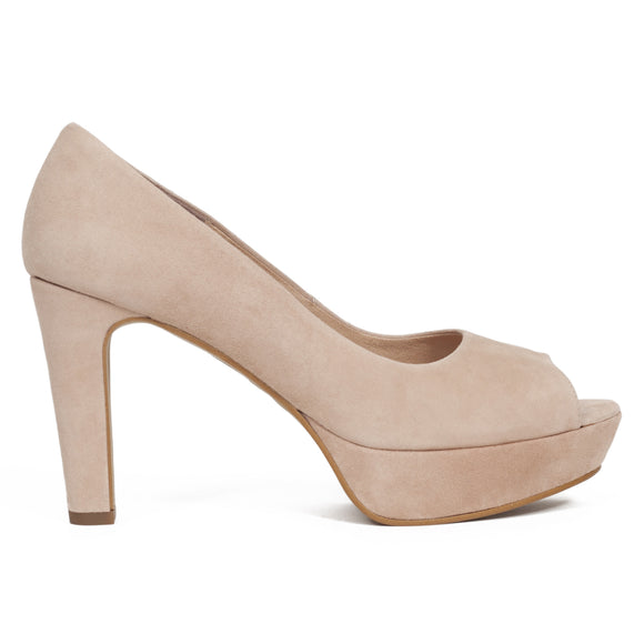 Pumps Urban High Heel Peeptoe Beige