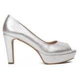 Pumps Urban High Heel Peeptoe Silber