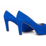 Pumps Urban High Heel Peeptoe Blau