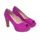 Pumps Urban High Heel Peeptoe Violett