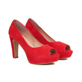 Pumps Urban High Heel Peeptoe Rot
