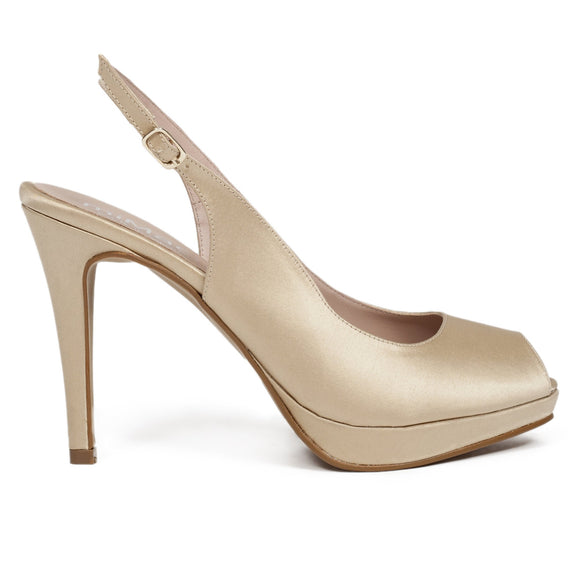 Peeptoe Pumps Gold