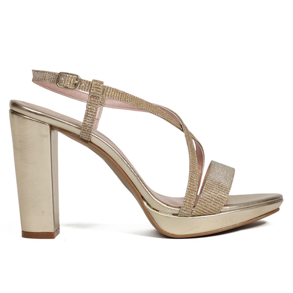 Sandalen CRYSTAL Gold
