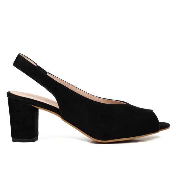 PEEPTOES - SCHWARZE DAMEN PEEPTOES SLINGPUMPS