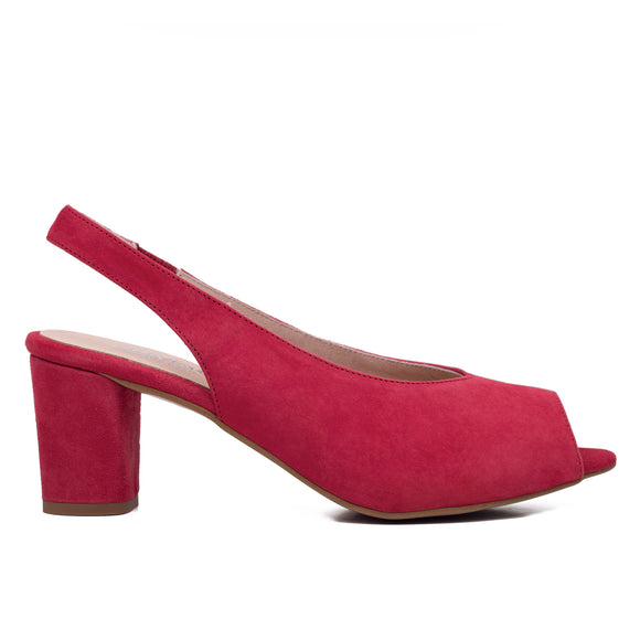 PEEPTOES - ROTE DAMEN PEEPTOES SLINGPUMPS