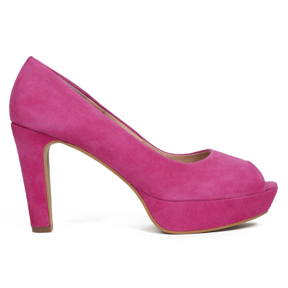 Pumps Urban High Heel Peeptoe Fuchsie