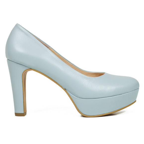 PARTY- HELLBLAUE PUMPS MIT PLATEAU