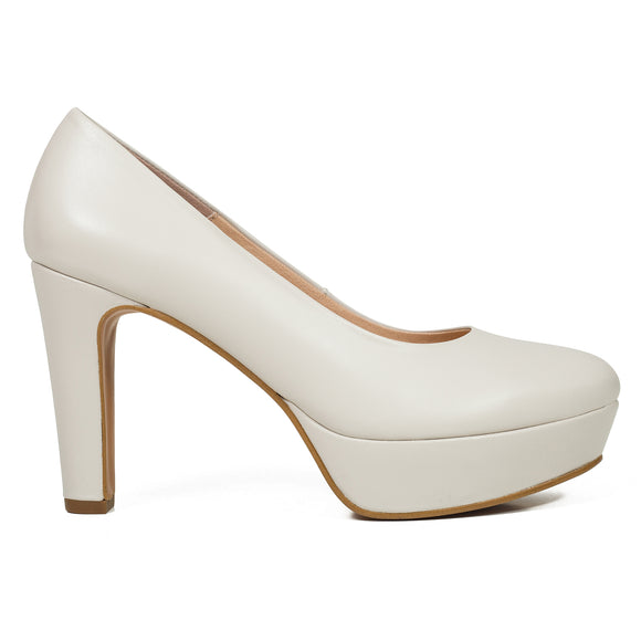 PARTY- HELLBEIGE PUMPS MIT PLATEAU