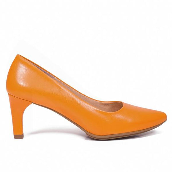 URBAN STILETTO – ORANGE Stiletto Damen Schuhe mit Pfennigabsatz 6.5 cm