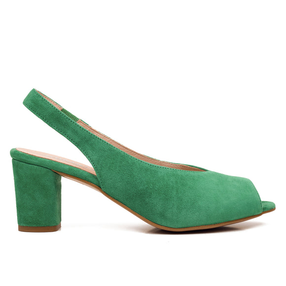 PEEPTOES - GRÜNE DAMEN PEEPTOES SLINGPUMPS