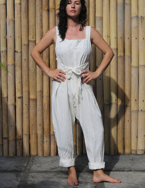 ALOK - Front or Back Tie Linen Jumpsuit