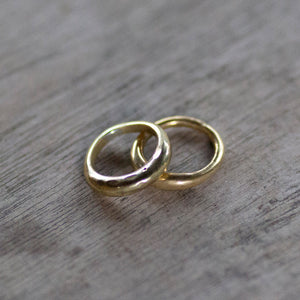 ARIE - Bronze Organic Form Stacker Rings - Set of Two