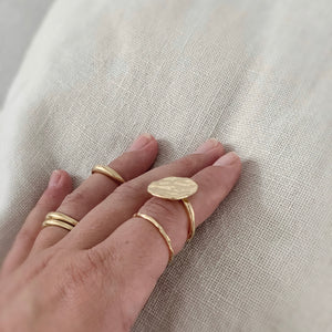 18k Gold ARJUNA - Organic Form Sun and Moon Ring