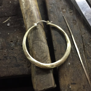 HOOPS - Organic Form Hoop Earings