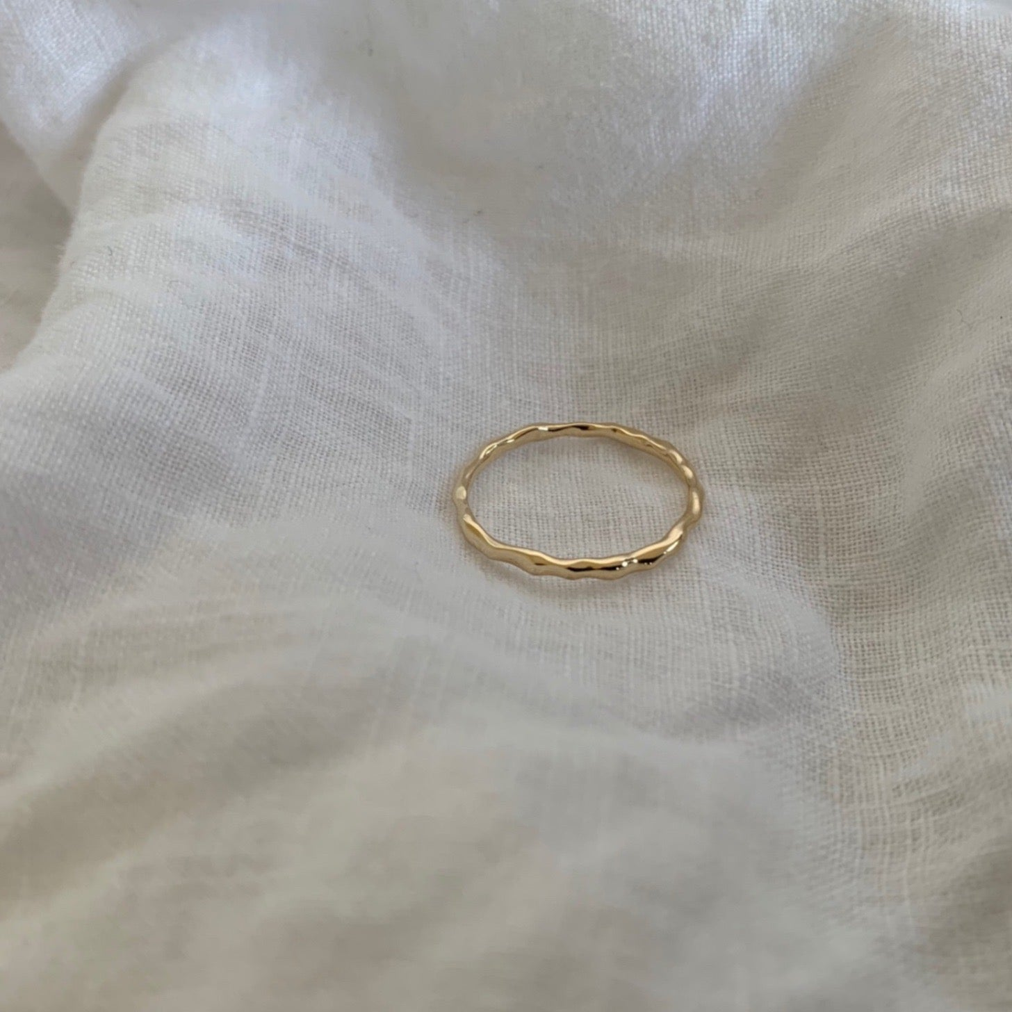 9k GOLD ATHENA - Organic Form Ring