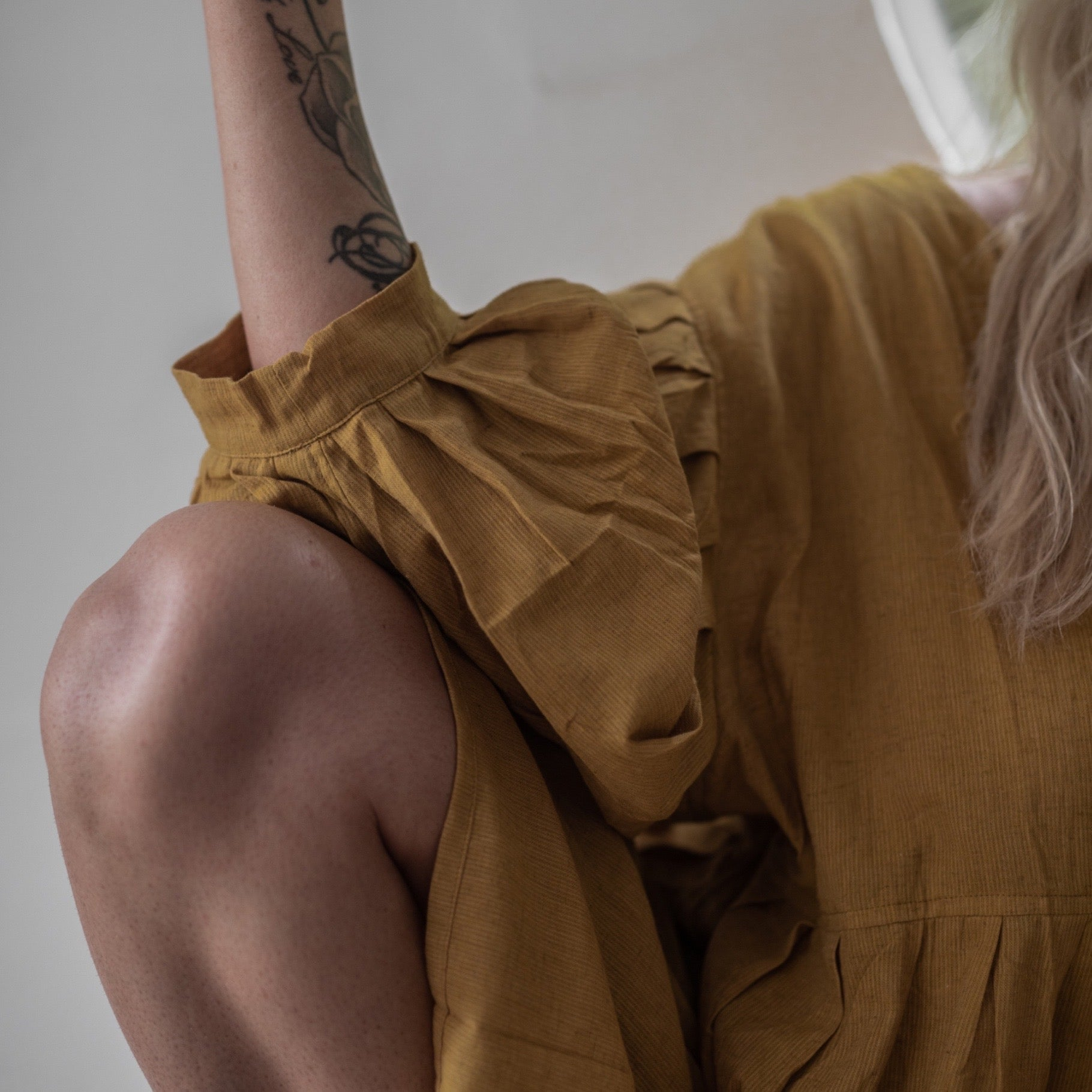 SOL - Ochre Bloomer Playsuit