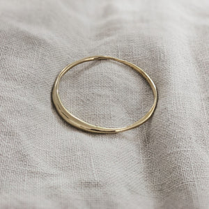 18k Gold ECLIPSE - Organic Form Bangle