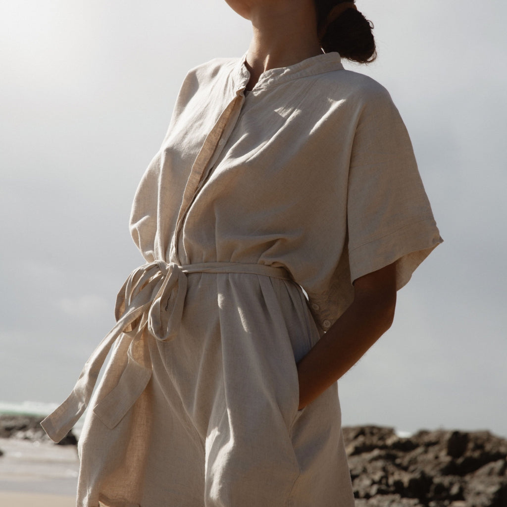 YIN - Linen Playsuit