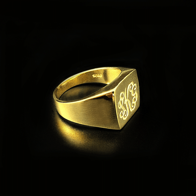 Signet ring oslo / Awe custom / Sølvring / Signet ring i gull
