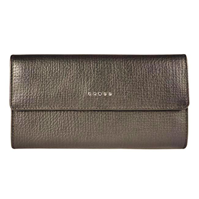 Cross RTC WOMEN Women's Flap Wallet with Back Zip - BROWN AC778302N-3