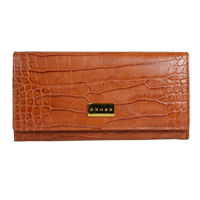 CROSS COCO SIGNATURE WOMEN FULL FLAP WALLET BROWN