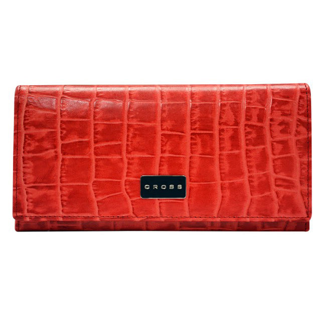 CROSS COCO SIGNATURE WOMEN FULL FLAP WALLET -RED AC788288N-1