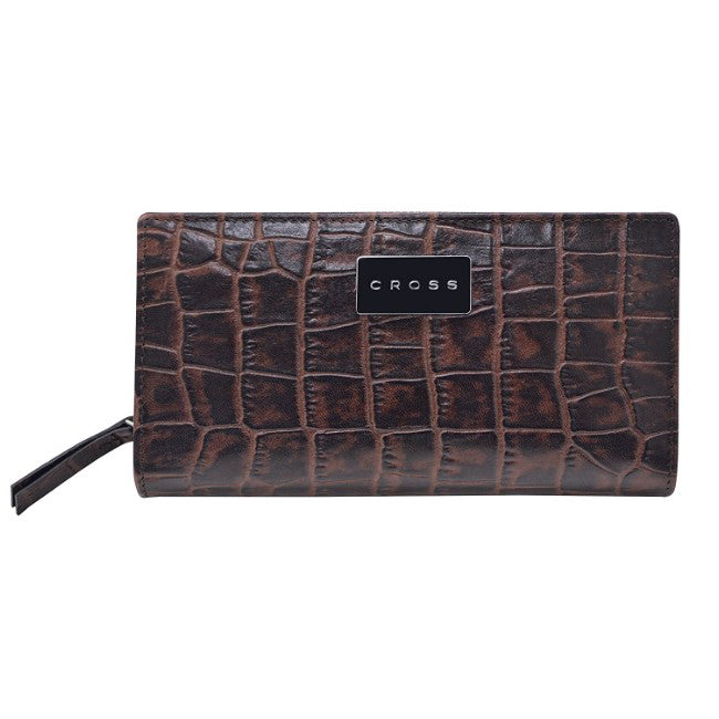 CROSS COCO SIGNATURE WOMEN EVENING CLUTCH -BROWN AC788374N-2