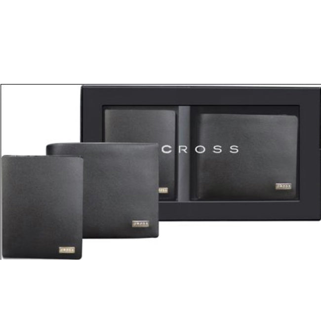CROSS INSIGNIA SET WALLET 11*8 + CARD CASE 10*6 ACC753NB-1