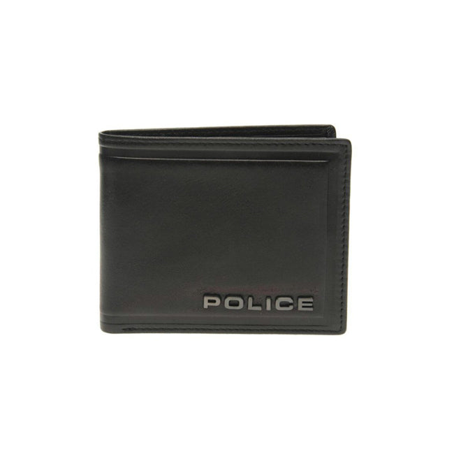 POLICE METAL SLIM WALLET BLACK PT168490-1