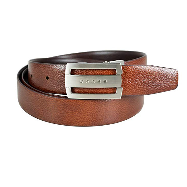 CROSS BELT Concert30mm Flat Buckle BROWN/TAN 6157