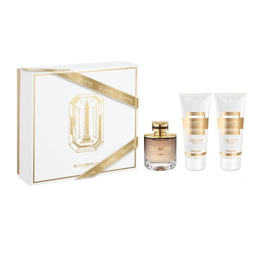 SET BOUCHERON QUATRE ABSOLU FOR WOMEN EDP 100ML + BODY LOTION 100 ML + SHOWER GEL 100ML