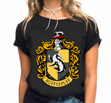 Hufflepuff T Shirt Harry Fan Potter House Hogwarts School Alumni Wizard Book Tee