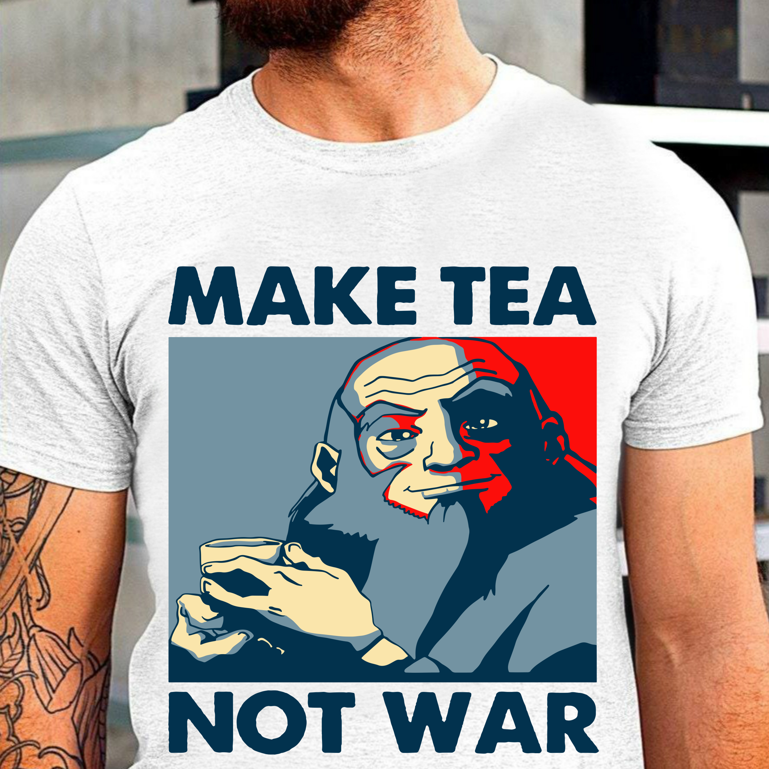 Avatar Uncle Iroh Make Tea Not War Tshirt The Last Airbender Tee Vintage T Shirt