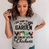 Garden & Chickens T Shirt Farmer Garden Worker Mother's Day Mom Gift Farmhouse Rooster Whisperer Mother Tee