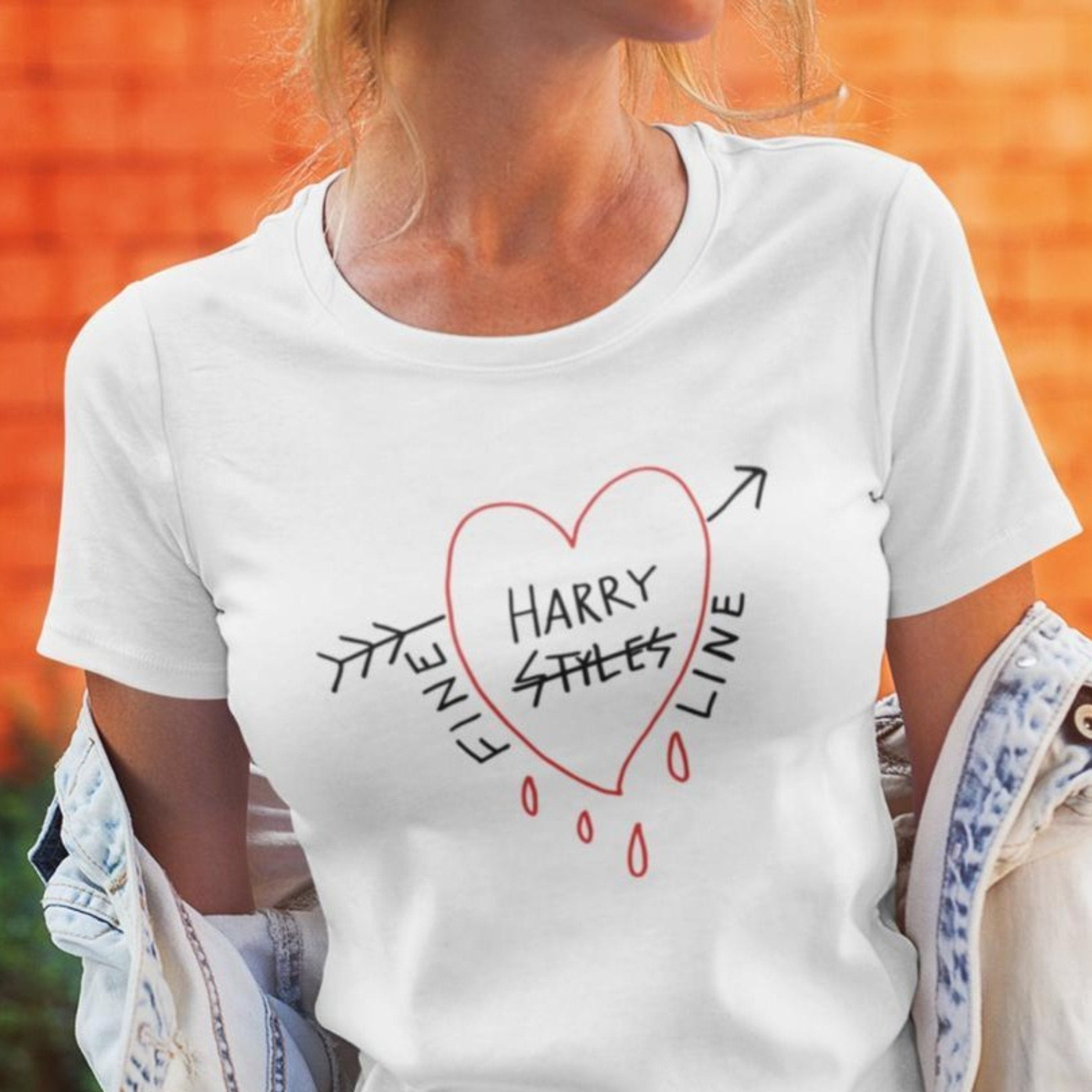 Fine Line Harry Styles Tee 1D One Direction Heart Tee