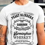 The Garison Birminghan T Shirt Whiskey Peaky Gangster Blinders Crew Thomas Shelby Brothers Bros Tee