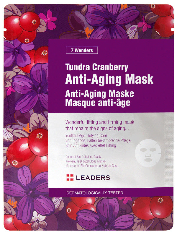 Leaders-7-Wonders-Tundra-Cranberry-Sheet-Mask-Biocellulose
