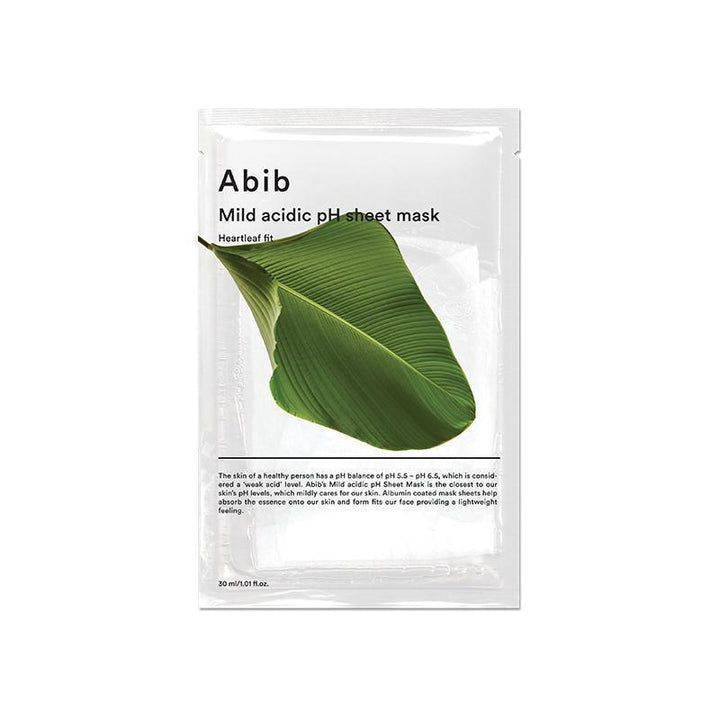 ABIB Mild Acidic pH Sheet Mask Heartleaf Fit