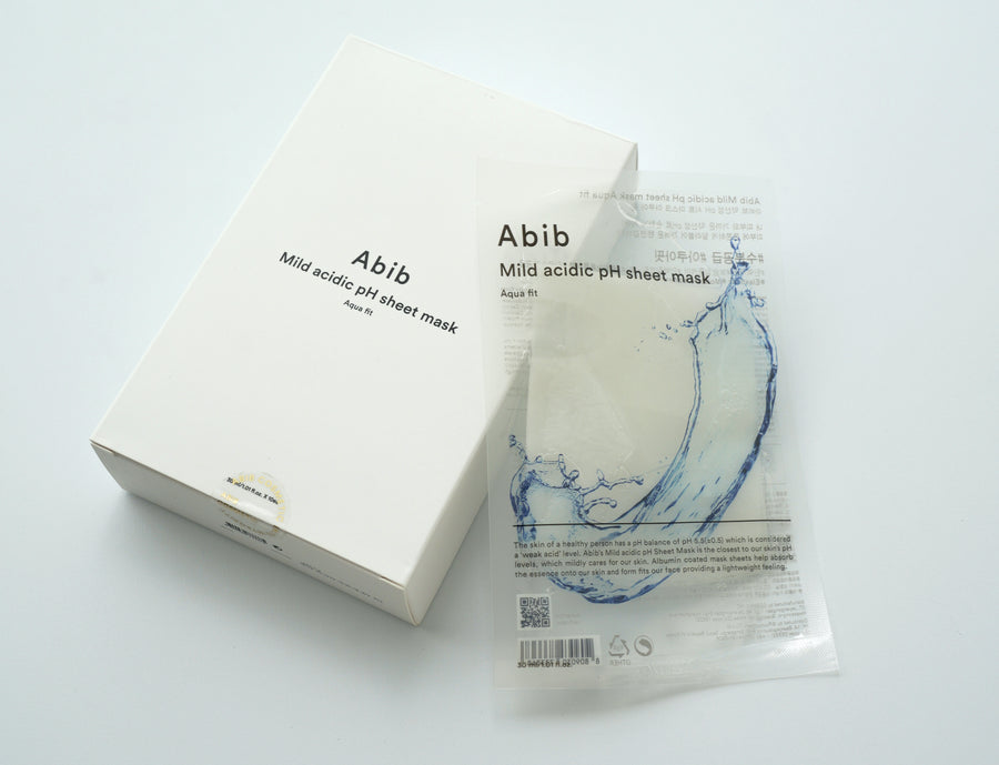 ABIB Mild Acidic pH Sheet Mask Aqua Fit 10ea | Skin Library UK
