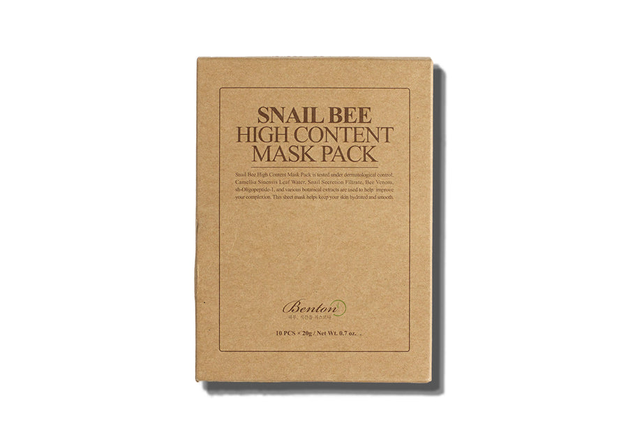 BENTON Snail Bee High Content Mask Pack - Moisturising - Skin Library UK