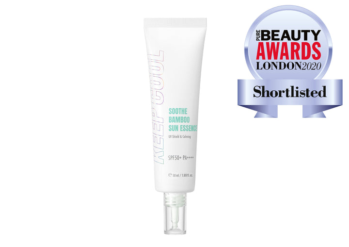 KEEP COOL Soothe Bamboo Sun Essence Pure Beauty Awards London 2020 Shortlist - Skin Library UK