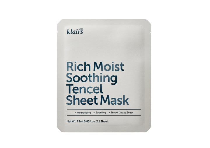 KLAIRS Rich Moist Soothing Tencel Sheet Mask - skin library uk