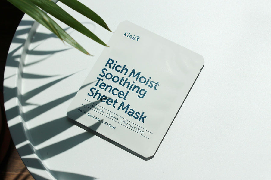 KLAIRS Rich Moist Soothing Tencel Sheet Mask - hydrating - skin library uk