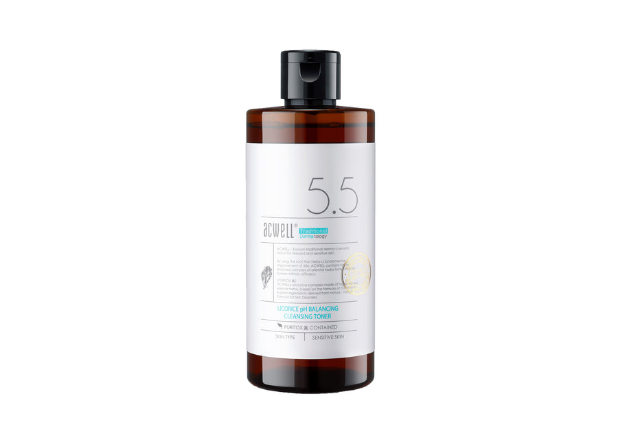 ACWELL Licorice pH Balancing Cleansing Toner 300ml - Skin Library UK