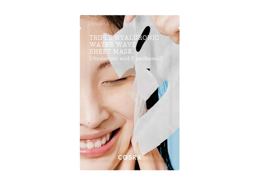 cosrx triple hyaluronic water wave sheet mask 20ml