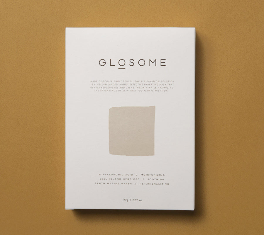 GLOSOME All Day Glow Solution Tencel Mask - Brighten - Skin Library UK