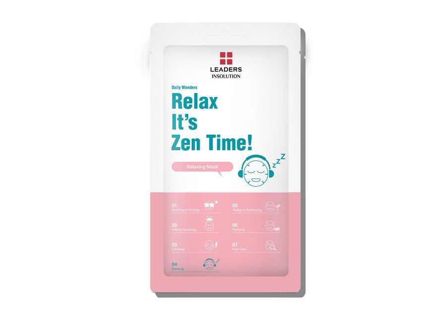 LEADERS Daily Wonders Relax, It's Zen Time Mask - Skin Library UK