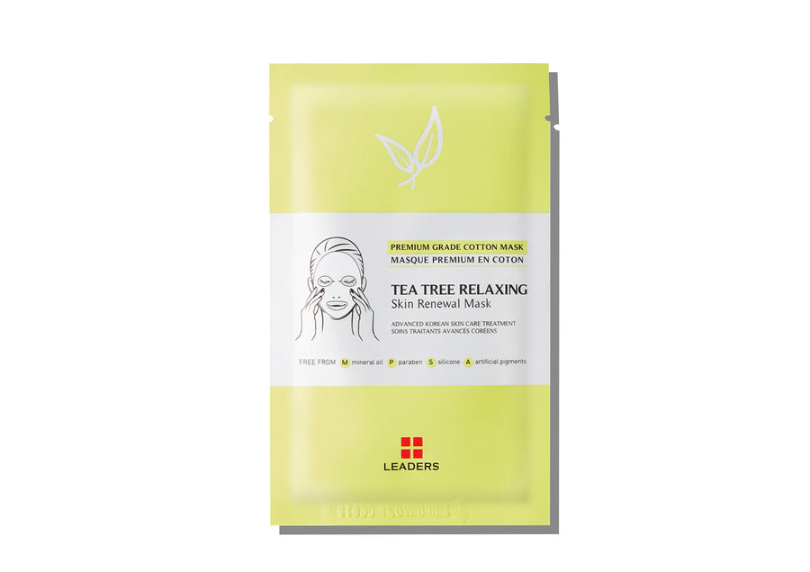 LEADERS Tea Tree Relaxing Skin Renewal Mask - Skin Library UK