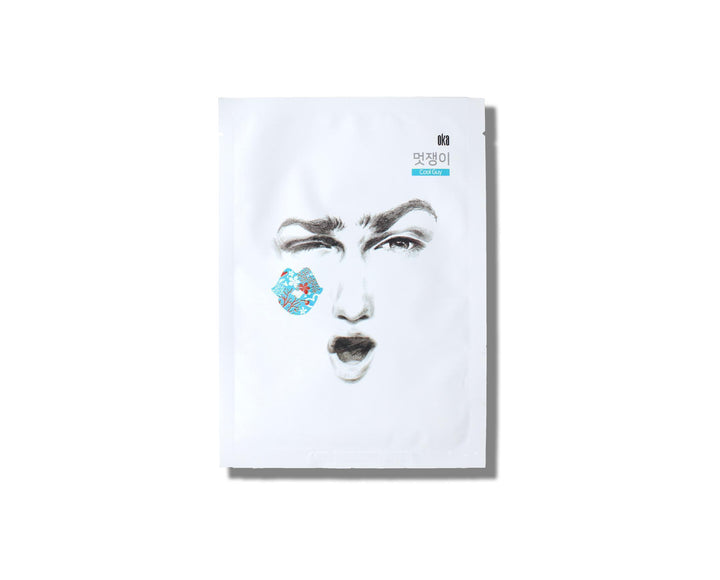 OKA Stay Cool Sheet Mask (For Men) - skin library uk